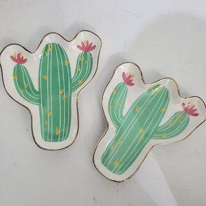 Cactus Ceramic Trinket Tray